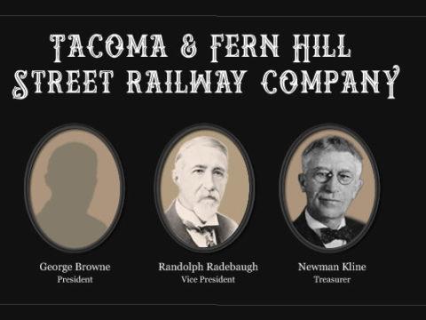 Tacoma & Fern Hill Street Railway Officers